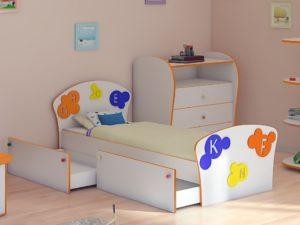Спальня Соната Kids Буквы 900х2000 мм