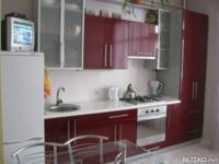 Кухонный гарнитур МДФ Модерн, угловой, бордовый