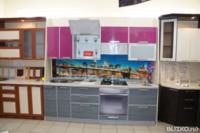 Кухонный гарнитур Пластик в алюминиевой рамке, модель 003