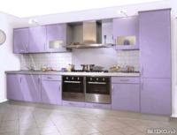 Кухонный гарнитур Пластик с ПВХ кромкой, сиреневый