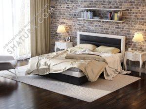 Андрэа, Кровать 2сп. 1600х2000 с п/м,  black/white