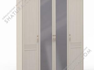 Шкаф 4 дв. (1 + 2 + 1) с зерк., FU3-01.T8L