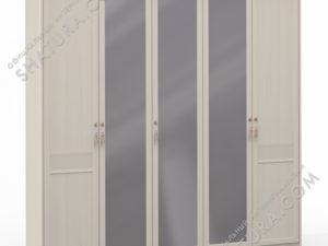 Шкаф 5 дв. (2 + 1 + 2) с зерк., FU3-01.T8L
