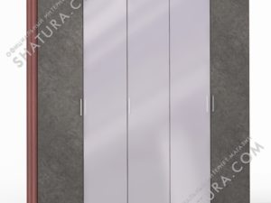 Шкаф 5 дв. (2 + 1 + 2) с зерк., FU1-01.CH/DFS