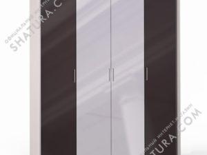 Шкаф 4 дв. (1 + 2 + 1) с зерк. паспарту, FU1-01.CG/CI