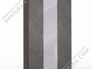Шкаф 3 дв. (1 + 1 + 1) с зерк., FU1-01.CP/DFS