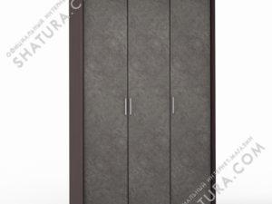 Шкаф 3 дв. (1 + 2) паспарту, FU1-01.CP/DFS