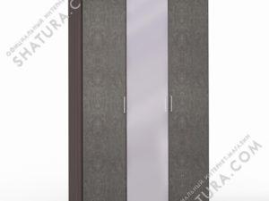 Шкаф 3 дв. (1 + 2) с зерк., FU1-01.CP/DFS