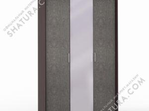 Шкаф 3 дв. (1 + 2) с зерк. паспарту, FU1-01.CP/DFS
