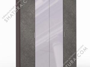 Шкаф 4 дв. (1 + 2 + 1) с зерк., FU1-01.CP/DFS