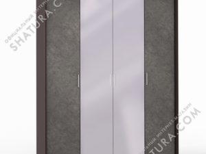 Шкаф 4 дв. (1 + 2 + 1) с зерк. паспарту, FU1-01.CP/DFS