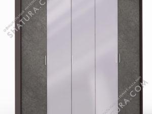 Шкаф 5 дв. (2 + 1 + 2) с зерк. паспарту, FU1-01.CP/DFS