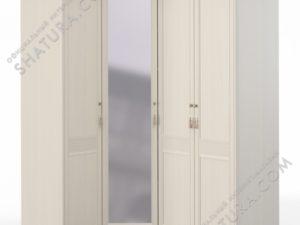 Шкаф угловой (1 + угл.с зерк. + 2) (дв.левая, ограничит.), FU5-01.T8L
