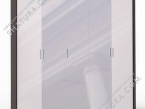 Шкаф 5 дв. (2 + 1 + 2) с зерк. паспарту, FU1-01.CP/23P