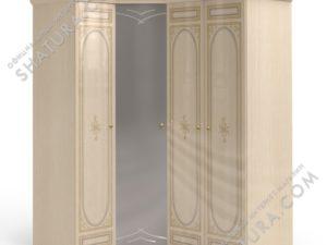 Шкаф угловой (1 + угл.с зерк. + 2), FU5-01.28Ш
