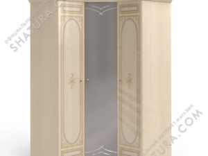 Шкаф угловой (1 + угл.с зерк. + 1), FU5-01.28Ш