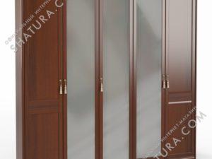 Шкаф 5 дв. (2 + 1 + 2) с зерк., FU3-01.Z1L