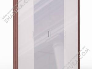 Шкаф 4 дв. (1 + 2 + 1) с зерк. паспарту, FU1-01.CH/23P