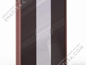 Шкаф 3 дв. (1 + 2) с зерк. паспарту, FU1-01.CH/CI