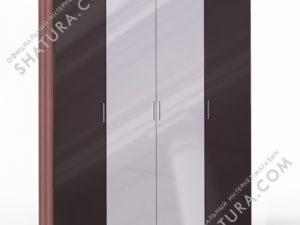 Шкаф 4 дв. (1 + 2 + 1) с зерк., FU1-01.CH/CI