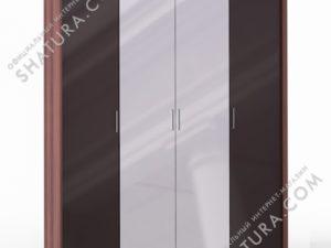 Шкаф 4 дв. (1 + 2 + 1) с зерк. паспарту, FU1-01.CH/CI