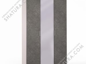 Шкаф 3 дв. (1 + 1 + 1) с зерк., FU1-01.CG/DFS