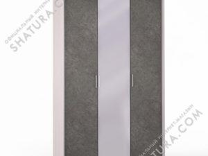 Шкаф 3 дв. (1 + 1 + 1) с зерк. паспарту, FU1-01.CG/DFS