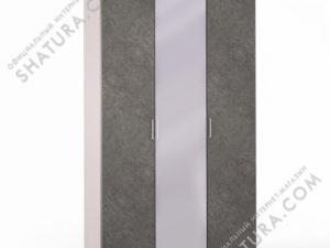 Шкаф 3 дв. (1 + 2) с зерк., FU1-01.CG/DFS