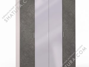 Шкаф 4 дв. (1 + 2 + 1) с зерк., FU1-01.CG/DFS