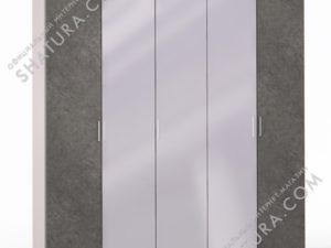 Шкаф 5 дв. (2 + 1 + 2) с зерк., FU1-01.CG/DFS
