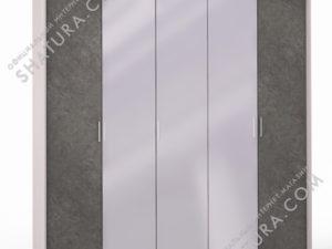 Шкаф 5 дв. (2 + 1 + 2) с зерк. паспарту, FU1-01.CG/DFS