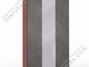 Шкаф 3 дв. (1 + 1 + 1) с зерк., FU1-01.CH/DFS