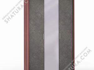 Шкаф 3 дв. (1 + 1 + 1) с зерк. паспарту, FU1-01.CH/DFS