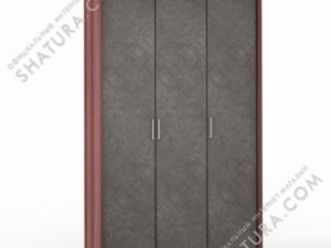 Шкаф 3 дв. (1 + 2) паспарту, FU1-01.CH/DFS