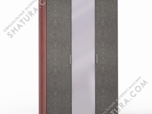 Шкаф 3 дв. (1 + 2) с зерк., FU1-01.CH/DFS