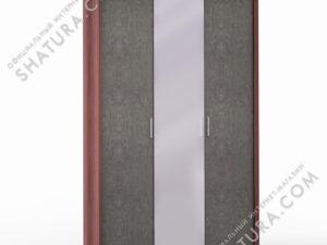 Шкаф 3 дв. (1 + 2) с зерк. паспарту, FU1-01.CH/DFS