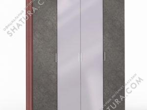 Шкаф 4 дв. (1 + 2 + 1) с зерк., FU1-01.CH/DFS