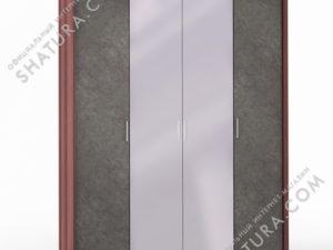 Шкаф 4 дв. (1 + 2 + 1) с зерк. паспарту, FU1-01.CH/DFS