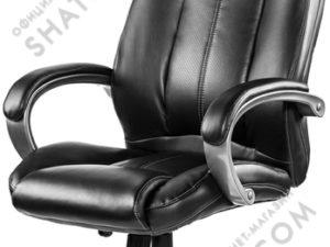 Кресло  EChair-604 RT рец.кожа черная,   299464