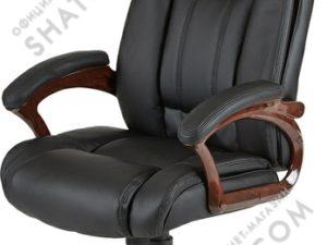 Кресло  EChair-632 TR рец.кожа черная,    470979