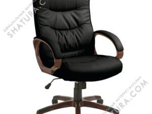 Кресло  EChair-633 TR рец.кожа черная,  470980