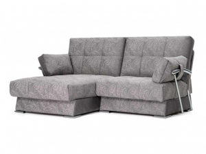 Дудинка мини угловой диван Letizia серый