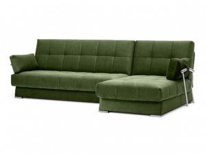 Дудинка угловой диван Galaxy зеленый