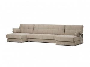Дудинка модульный диван Рогожка бежевый