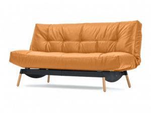 Артес диван-кровать Натуральная кожа оранжевый