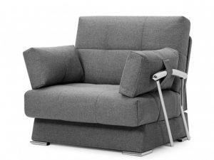 Дудинка раскладное кресло Рогожка серый