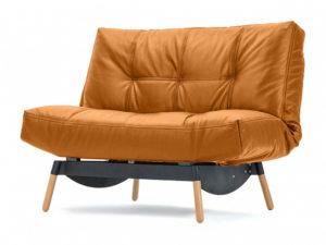 Артес раскладное кресло Натуральная кожа оранжевый