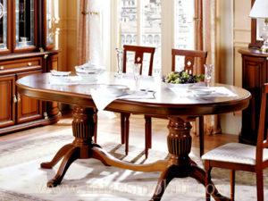 Стол обеденный овальный Anna орех в Миассе