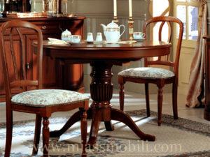 Стол обеденный круглый малый Anna орех в Миассе