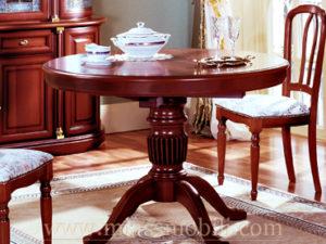 Стол обеденный круглый Anna орех в Миассе